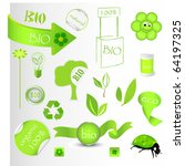 new bio green concept set.... | Shutterstock .eps vector #64197325