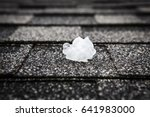 hail on the roof after hailstorm | Shutterstock . vector #641983000