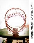 concept of the basketball hoop... | Shutterstock . vector #641983474