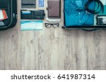 getting ready and packing... | Shutterstock . vector #641987314