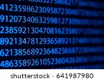 number on computer digital...   Shutterstock . vector #641987980