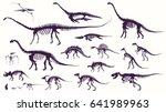 Set  Silhouettes  Dino...