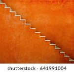 orange wall with stairs texture