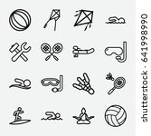 activity icon. set of 16... | Shutterstock .eps vector #641998990