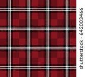 seamless plaid lumberjack and... | Shutterstock .eps vector #642003466
