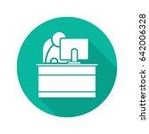 secretary flat design long... | Shutterstock .eps vector #642006328