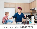 busy white caucasian young...   Shutterstock . vector #642012124