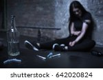 drug addicted woman getting... | Shutterstock . vector #642020824
