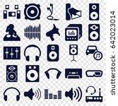 stereo icons set. set of 25...   Shutterstock .eps vector #642023014