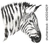 black and white monochrome... | Shutterstock . vector #642024829