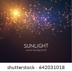 sun light star burst with... | Shutterstock .eps vector #642031018
