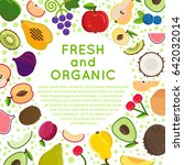 fresh fruits vector collection.... | Shutterstock .eps vector #642032014