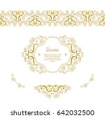 vector gold ornamental ... | Shutterstock .eps vector #642032500