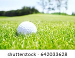 golf ball in grass | Shutterstock . vector #642033628