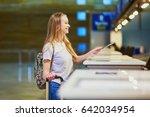 beautiful young tourist girl... | Shutterstock . vector #642034954