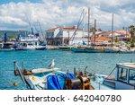 iskele  urla  izmir  turkey  ... | Shutterstock . vector #642040780