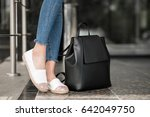woman walking  | Shutterstock . vector #642049750