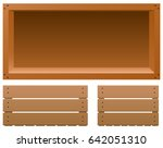 Wooden Board Templates On Whit...