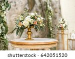 floral wedding decoration in... | Shutterstock . vector #642051520