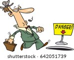 cartoon man about to fall into... | Shutterstock .eps vector #642051739