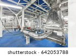 Small photo of Giant industrial air heater with piping system at the chemical plant for the production of ammonium nitrate