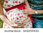 waiting baby. pregnant woman...   Shutterstock . vector #642054433