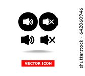 sound on and off vector icons