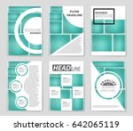 abstract vector layout... | Shutterstock .eps vector #642065119