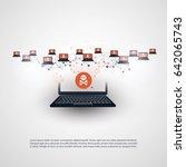 network vulnerability   virus ... | Shutterstock .eps vector #642065743