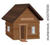 log cabin camping | Shutterstock .eps vector #642070030