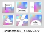 abstract vector layout... | Shutterstock .eps vector #642070279