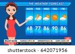 tv weather forecast female in... | Shutterstock .eps vector #642071956