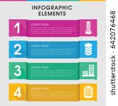 modern district infographic... | Shutterstock .eps vector #642076468