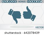 set of icons  thumb up  thumb... | Shutterstock .eps vector #642078439