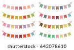 festive vector buntings with... | Shutterstock .eps vector #642078610