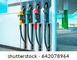 gasoline station gas fuel pump   Shutterstock . vector #642078964