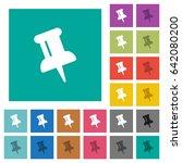 push pin multi colored flat... | Shutterstock .eps vector #642080200