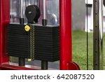 black metallic or iron heavy... | Shutterstock . vector #642087520