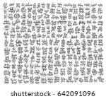 mega set of 200 black and white ...   Shutterstock .eps vector #642091096