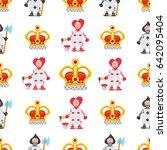 set of illustrations on the... | Shutterstock .eps vector #642095404