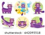 cheshire cat. separate | Shutterstock .eps vector #642095518