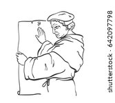 martin luther  1483 1546  the... | Shutterstock .eps vector #642097798