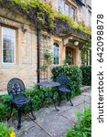 front of english house  | Shutterstock . vector #642098878