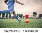 player kicking the ball    Shutterstock . vector #642100990