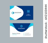 business card design trendy... | Shutterstock .eps vector #642103444