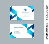 business card design trendy... | Shutterstock .eps vector #642103504