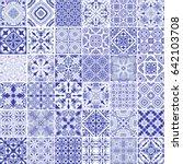 traditional ornate portuguese...   Shutterstock .eps vector #642103708