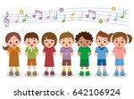 vector illustration of choir... | Shutterstock .eps vector #642106924