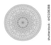 mandala coloring book for... | Shutterstock .eps vector #642108388