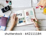 planning traveling trip notes... | Shutterstock . vector #642111184